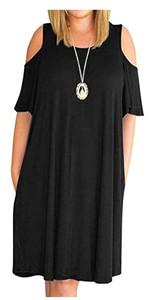 plus cold shoulder dress