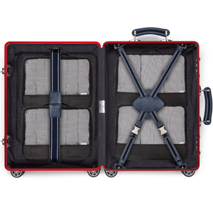 Black Packing cubes in a suitcase. Luggage organiser for travel backpacks travel baggage closets