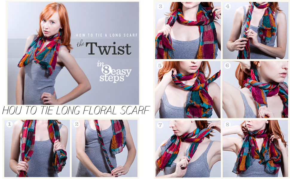 how to tie long scarf