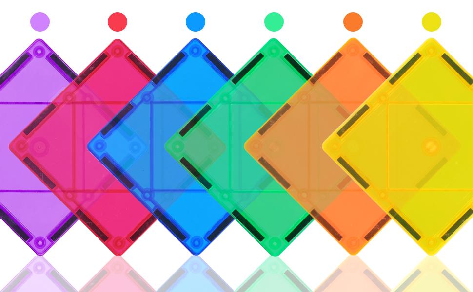 Translucent brightly rainbow set
