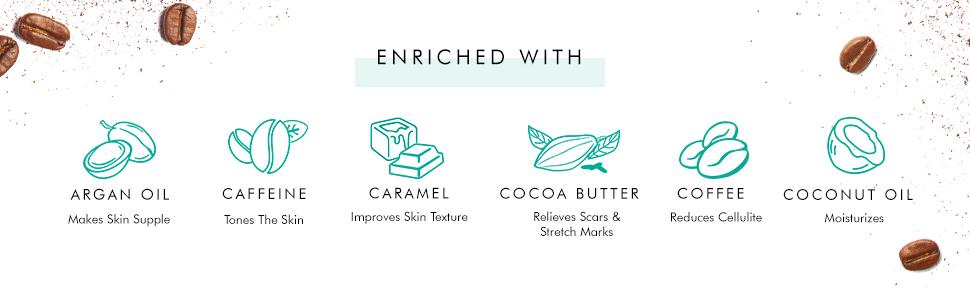 coffee body scrub pure arabica coffee coconut oil cocoa butter argan oil vitamin e choco body butter