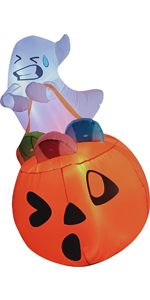 Inflatable Cute Ghost Inflatable Lift Pumpkin Candy Bag