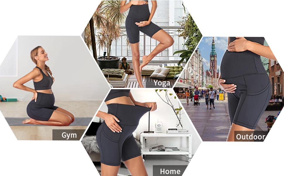maternity yoga shorts