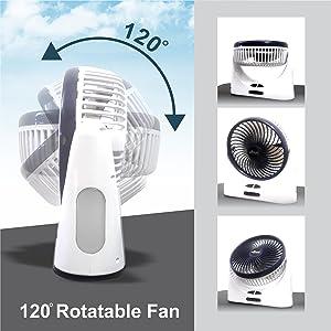 EMERGENCY usb fan home rechargeable portable office desk battery light far office speed light fan