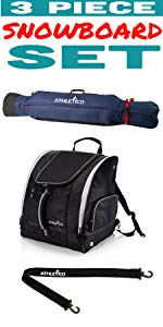 3 Piece Freestyle Padded Snowboard Bag / Boot Bag + Boot Carrier Strap