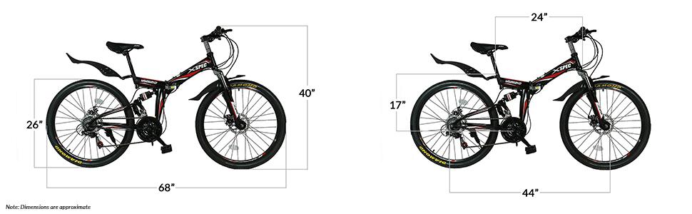 xspec bike dimensions