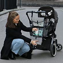 Hang portable changing pad on stroller