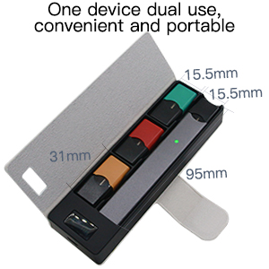 ShellBox Portable Vape Charging Case PCC und Pod-Halter kompatibel für JUUL Device Starter Kit, Power Bank Charger Früher, 1200mAh ...