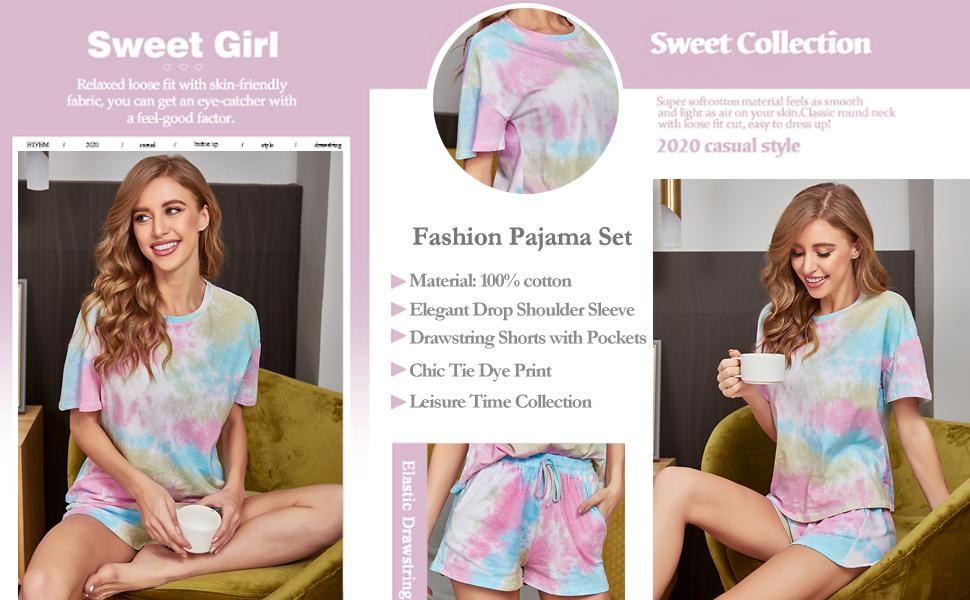 tie dye pajamas for women
