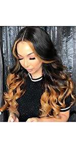 1B/30 Ombre Human Hair Wigs