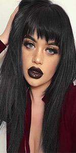 straight long wig