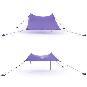 purple canopy used with 2 or 4 poles