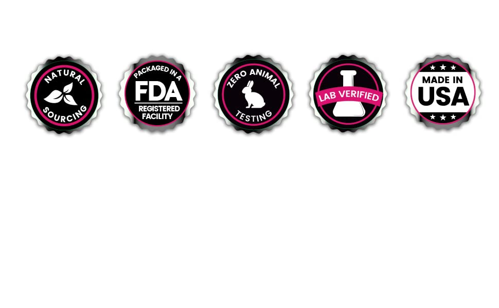 natural sourcing, fda registered facility, lab verified, made in USA