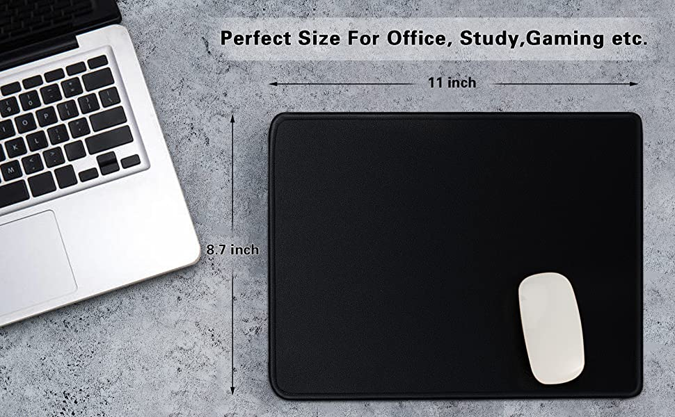 mouse pad for gaming office home laptop mouse mat macbook mouse pads air dell hp black rubber base