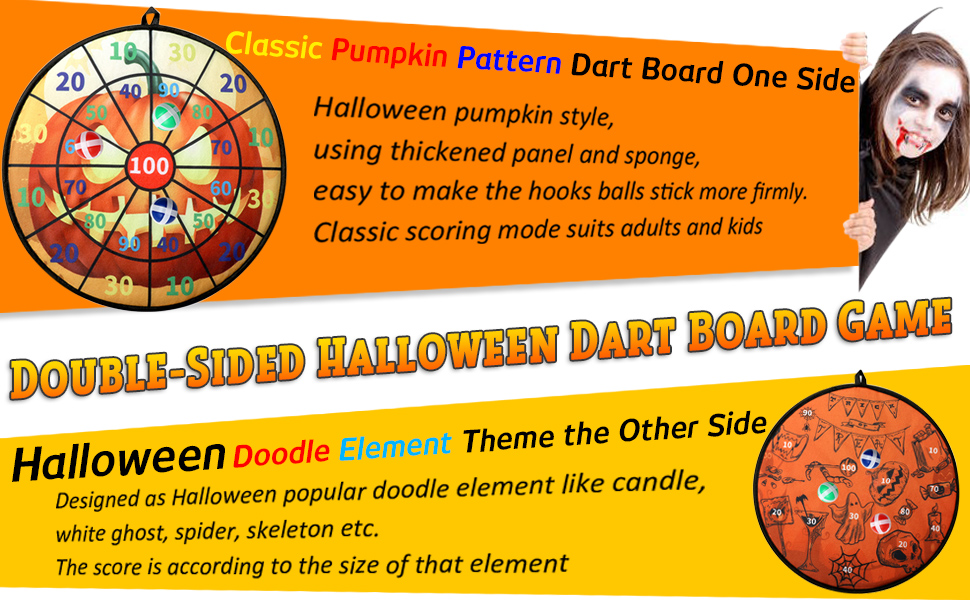 dart board game for halloween