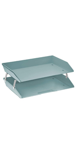 acrimet facility letter tray 2 tier side load solid green color