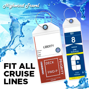Highwind tags are compatible with Carnival MSC Norwegian Princess Cruise Luggage Tags
