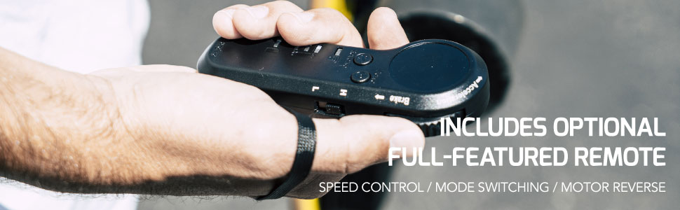 . The NG-2's remote is designed to fit so naturally, you'll forget that you're holding it.