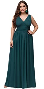 plus size chiffon formal dress plus size bridesmaid dress formal gowns mother's dress long dress