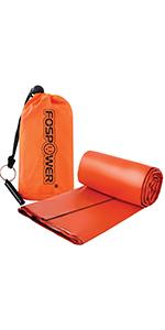 sleeping bag blanket orange sos