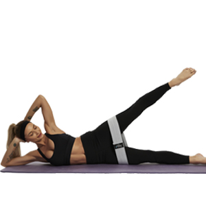 Side leg raise with resistance bands