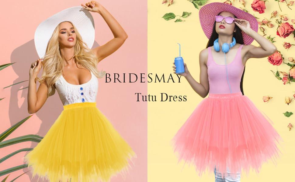Bridesmay Mujeres Faldas Enaguas Cortas Tul Plisada Fiesta Tutu ...