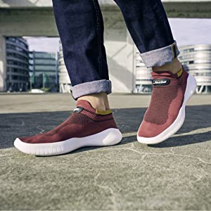 Jazba Running Sock Shoes Men Sockun Walking Knitted Sneakers Slip on Shoe for Workout Gym Traveling and Gimbal Photography Stabilizer Sock Shoes