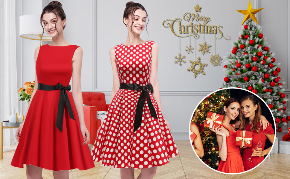 Christmas party costume vintage dress skull floral swing skirt red black short mini night out 1950