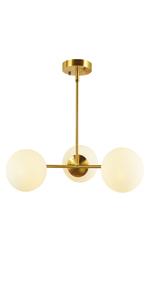 3 Lights Globe Pendant Light