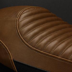 TRIUMPH BONNEVILLE T100 02-16 Flat Top Vintage Diamond Pattern Designer Seat Cover by Luimoto Made in Canada Vintage Dark Brown