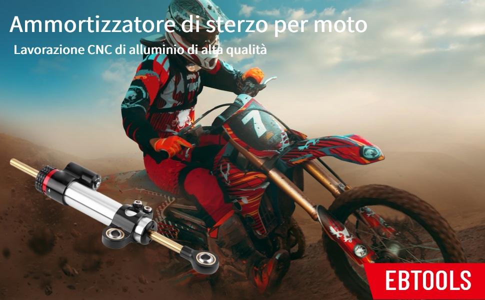 TREONK UNIVERSALE Ammortizzatore di Sterzo Moto Stabilizzatore per MT 07,MT 09 MT09,TRACER 700 900,NC750X,CB 500 X//F,CB 650 R,AFRICA TWIN,R 1250 GS ADV,F 750//850 GS,Z650,Z900,DUKE 125 390 790
