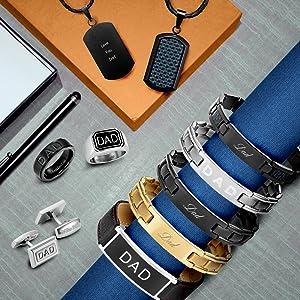 Willis Judd range of Dad gifts bracelets, pendants rings and cufflinks