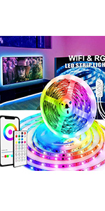 WiFi LED Strip Lights 16.4 Ft RGBIC Dreamcolor