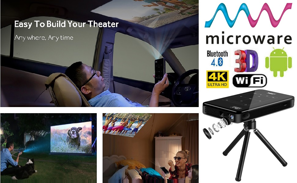 mini smart dlp 4k wifi pocket android projector