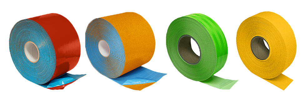 tapes pavement durable durability rolls tape long lasting strong adhesive permanent reflective
