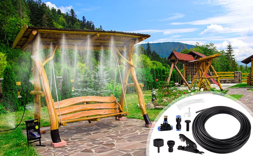 Minterest Sistema de Refrigeración de Niebla, 49ft DIY Garden ...