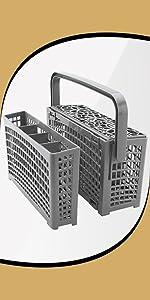 Dishwasher installation divided basket