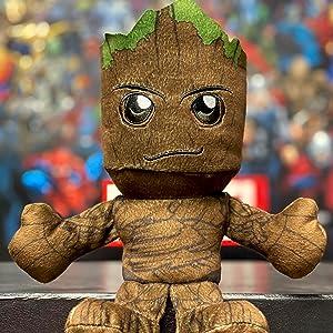 "Soft Chibi Inspired Toy Marvel Groot 8/"" Kuricha Sitting Plush"