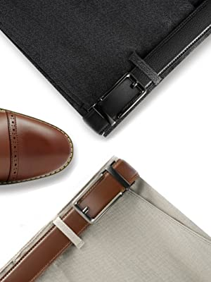 Click belt/clickit/one click/the click/clicking/comfort click/leather/brown/black/as seen on tv/