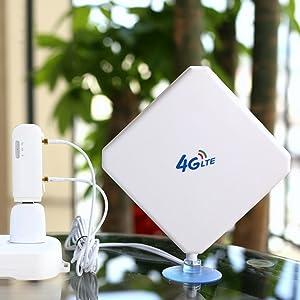 4G LTE Antena TS9 35dBi Dual Mimo Antena de Amplificador de Señal de Alta Ganancia Antenna de Alto Rendimientode 3G 4G para Router Móvil para Huawei ...