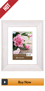 BOICHEN 8x10 white Rustic picture frames photo wood collage 2 pack wall farmhouse Distressed