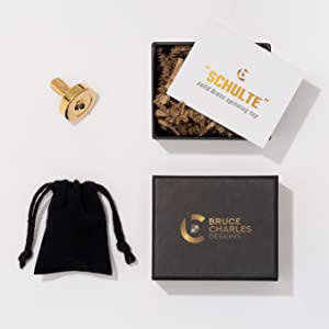 Schulte Brass spinning top and gift package