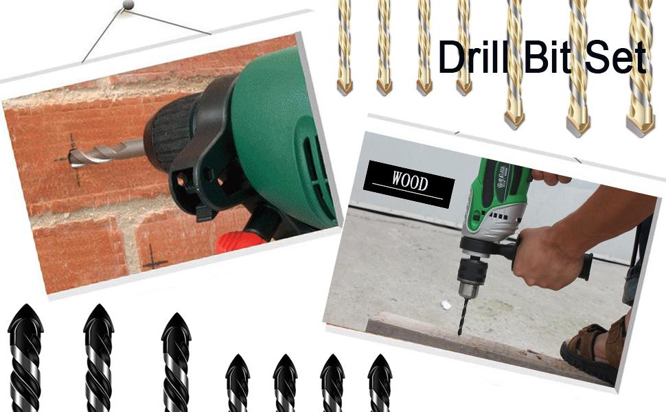 NEW Masonry Drill Bit Set 7 Piece Set Each
