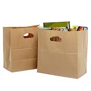 Kraft Take-Out Bag With Die Cut Handles
