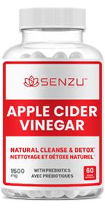 apple cider vinegar pills capsules prebiotics probiotics weight loss fat burner acv detox digestion