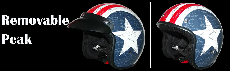 Leopard LEO-604 Scooter Motorcycle Motorbike Open Face Crash Helmet Road Legal Daisy M 57-58cm