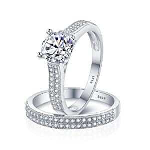 double pave ring set