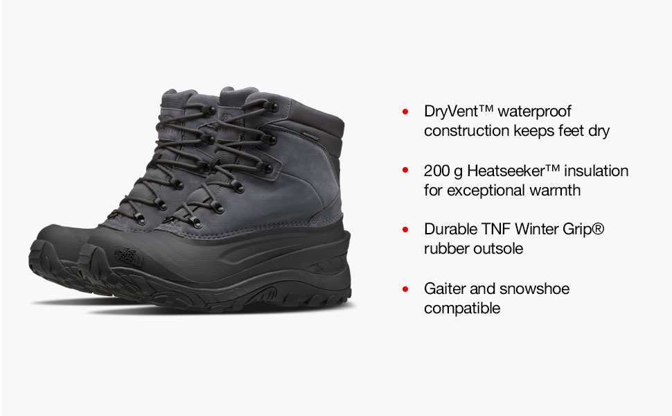 the north face shoes, footwear, foot wear, winter footwear, chilkat iv, mens chilkat, chilkat boot