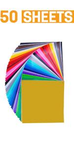 Adhesive Vinyl Sheets 50 Pack