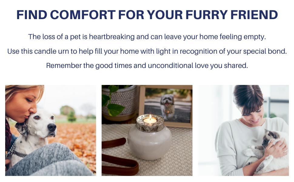 cremation urn pets cat dog candle furry friend loss bond love remember ash urn pet cremation